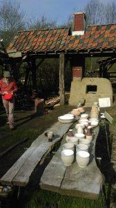 proefstook Keramiek Houtoven ongebakken potten The Green Circle - Workshops in de Natuur