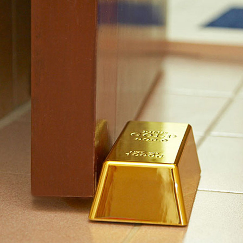 Faux Gold Bar Doorstop Paperweight The Green Head