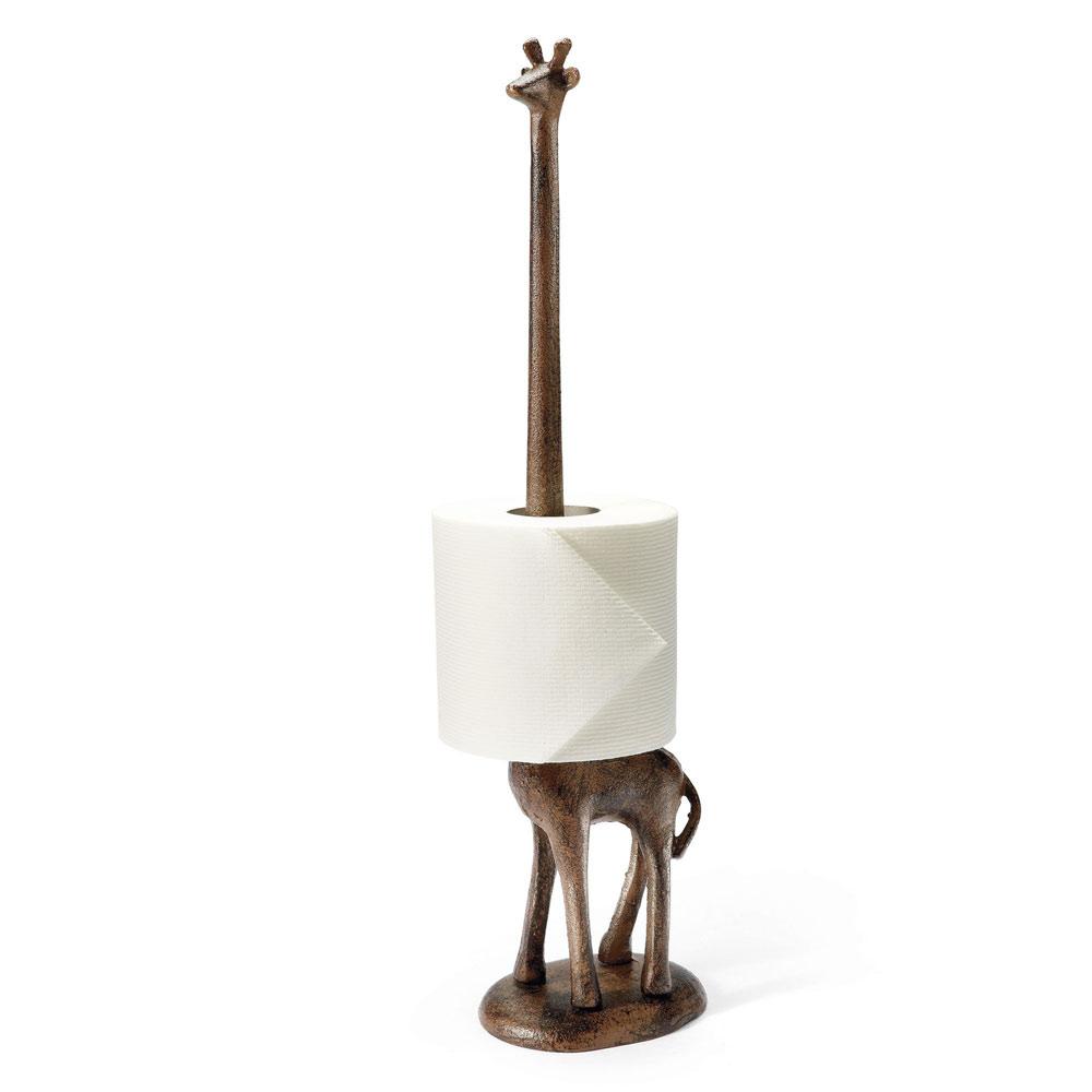 giraffe toilet paper stand