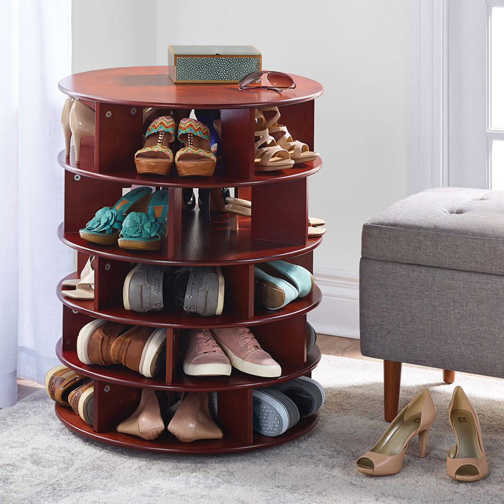 rotating 25 pair shoe tower