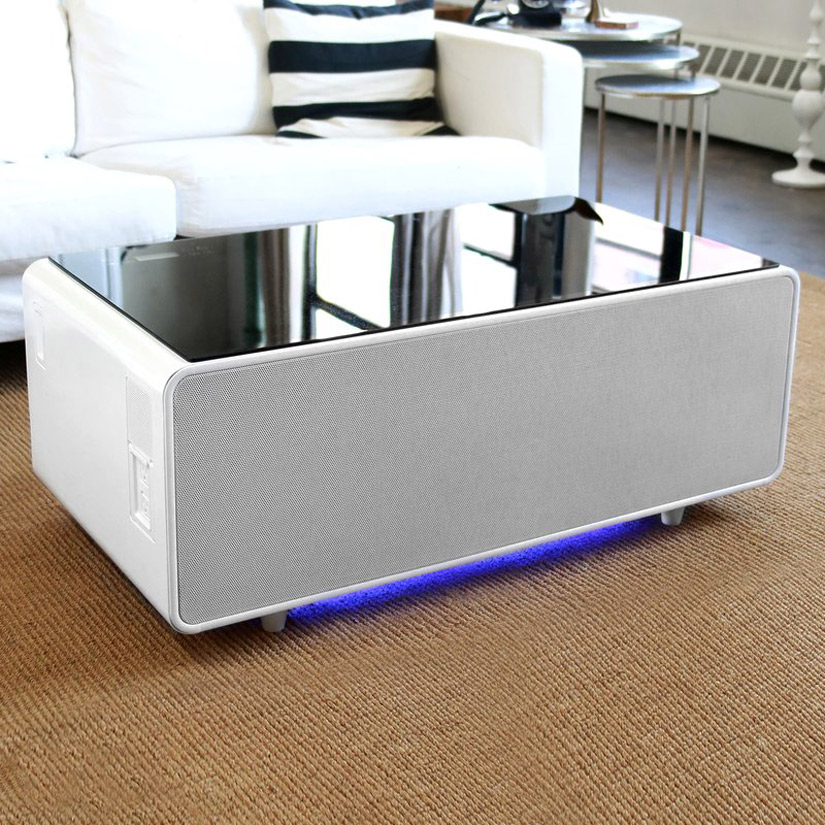 sobro smart coffee table w fridge