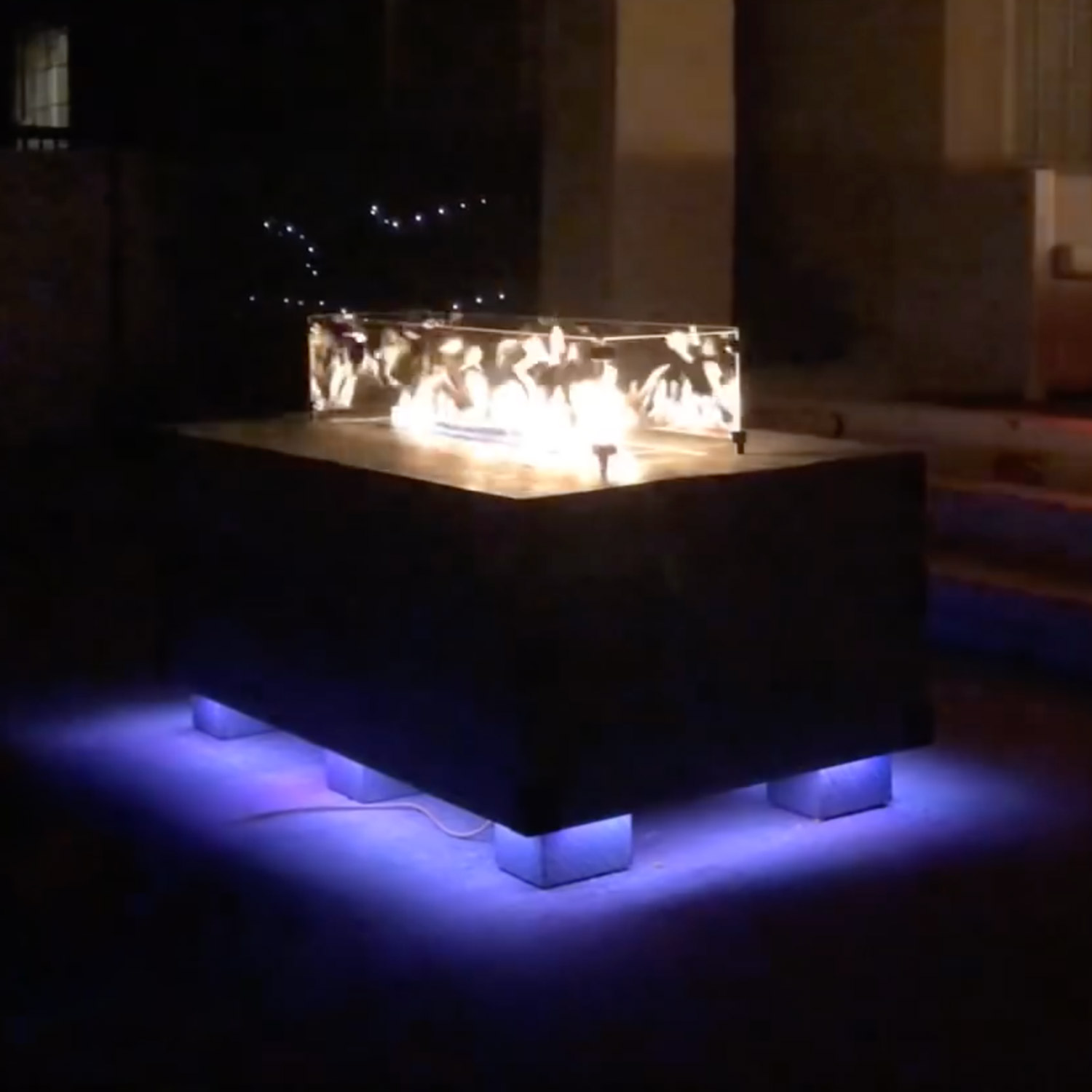 sound reactive fire pit table w