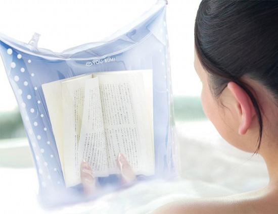Waterproof Book Cover Bath Bag The Green Head
