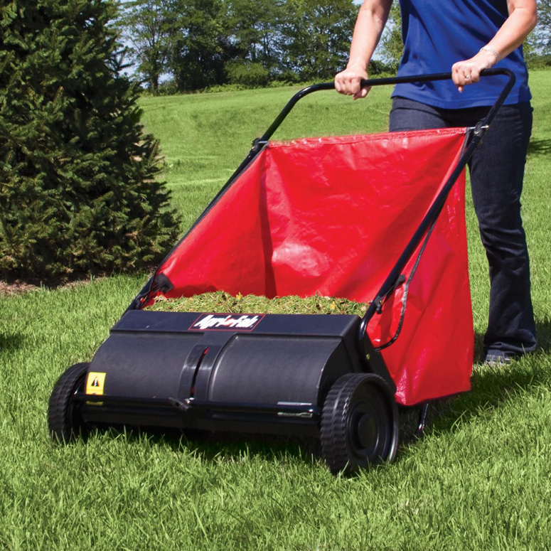 Agri Fab Push Lawn Sweeper Leaves Grass Clippings And