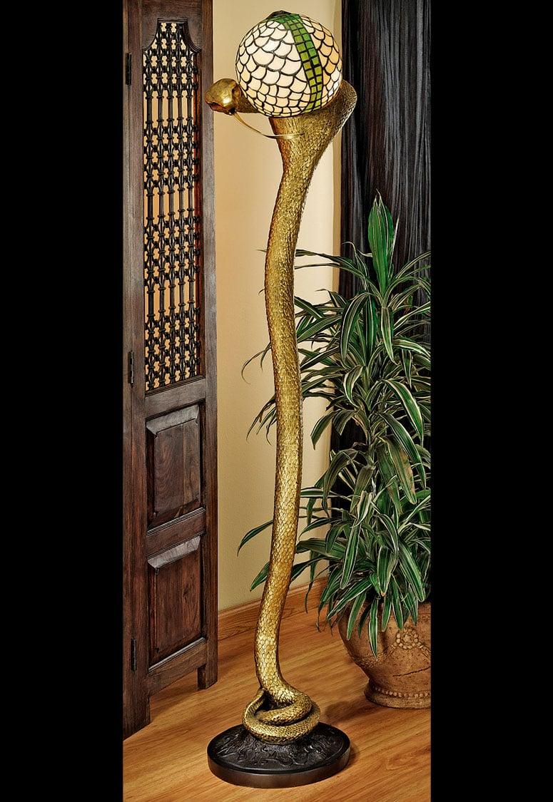 Cobra God Wadjet Sculptural Floor Lamp The Green Head