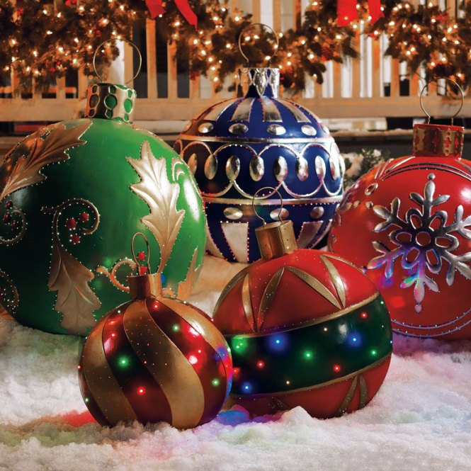 Decoration Ideas Cute Image Of Outdoor Christmas Decoratin Using Large Red Air Giant For Design And
