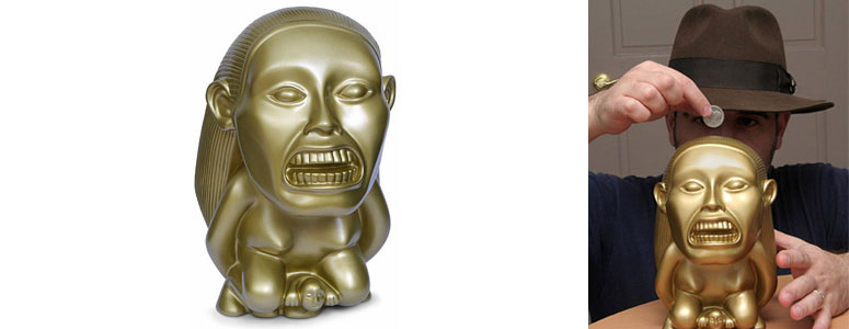 Indiana Jones Golden Fertility Idol Bank The Green Head