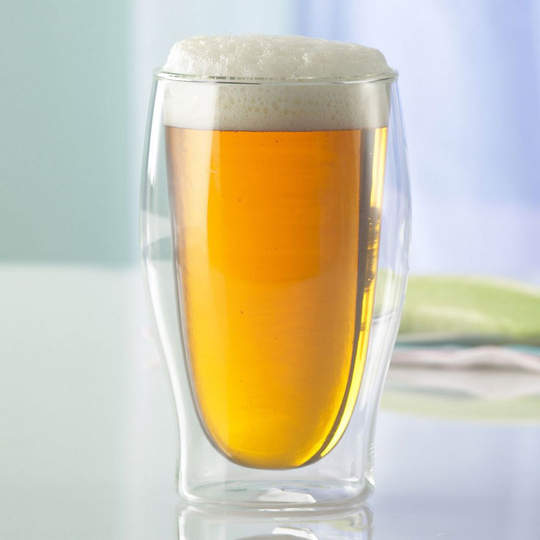 Insulated Double Wall Beer Glasses The Green Head