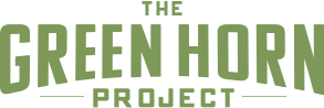 Logo for the Green Horn Project - Recycle your used school band instruments