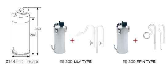 Image of ADA Super Jet Filter ES 300 Lily Type with Lily Pipe Spin