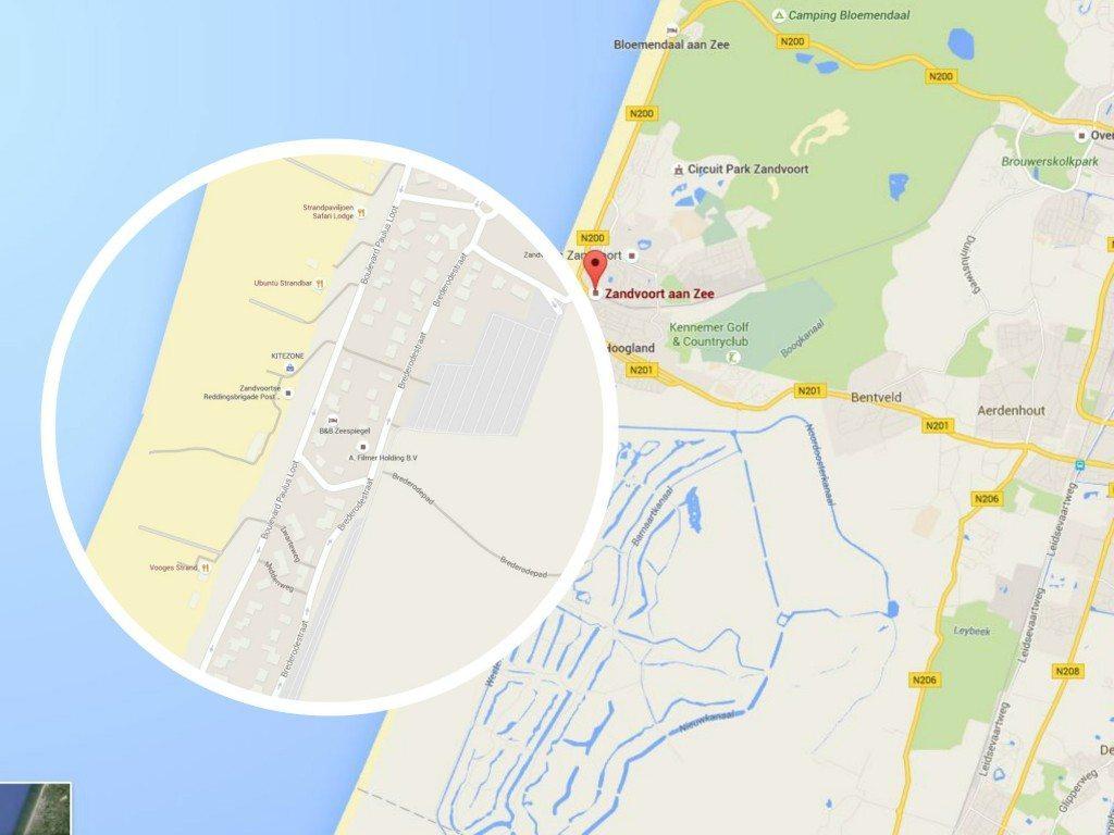 zandvoort map holland dunes access