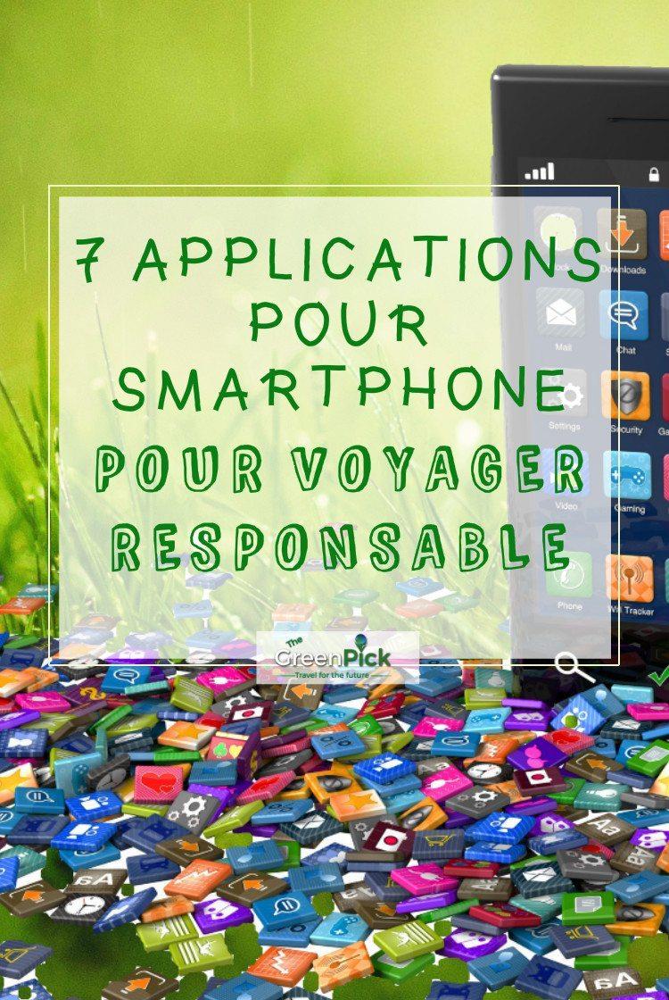 voyage responsable meilleures applications smartphones