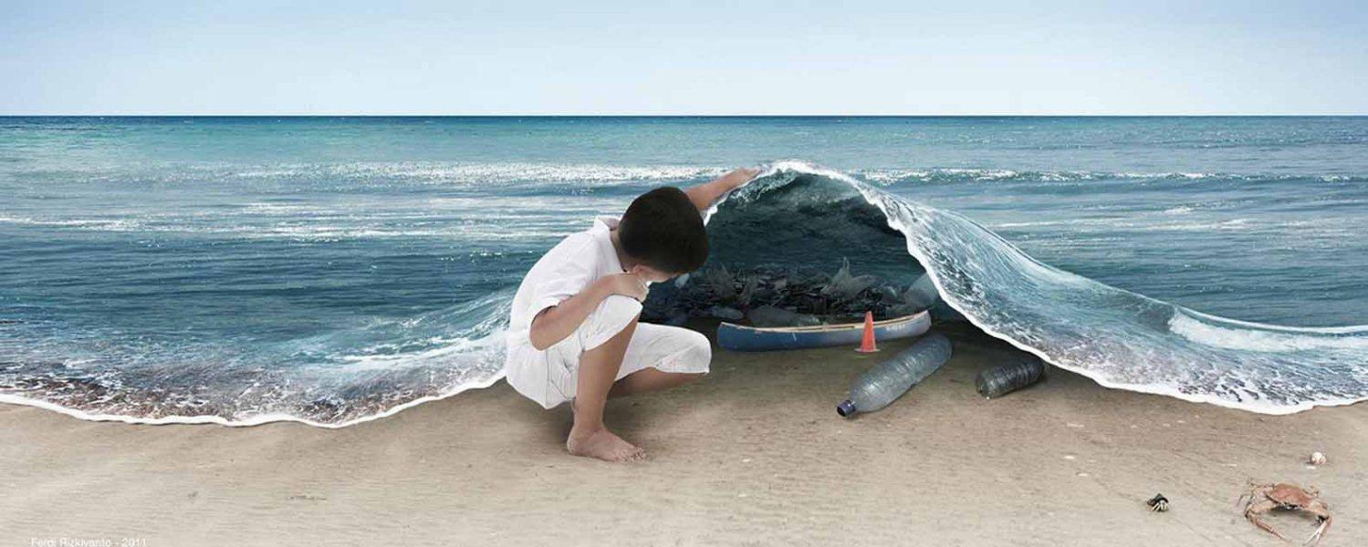 sous l'ocean pollution