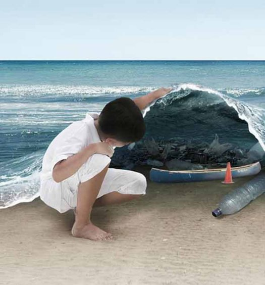 sous l'ocean pollution