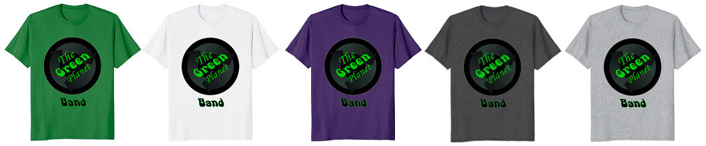 The Green Planet Band T-Shirt merch