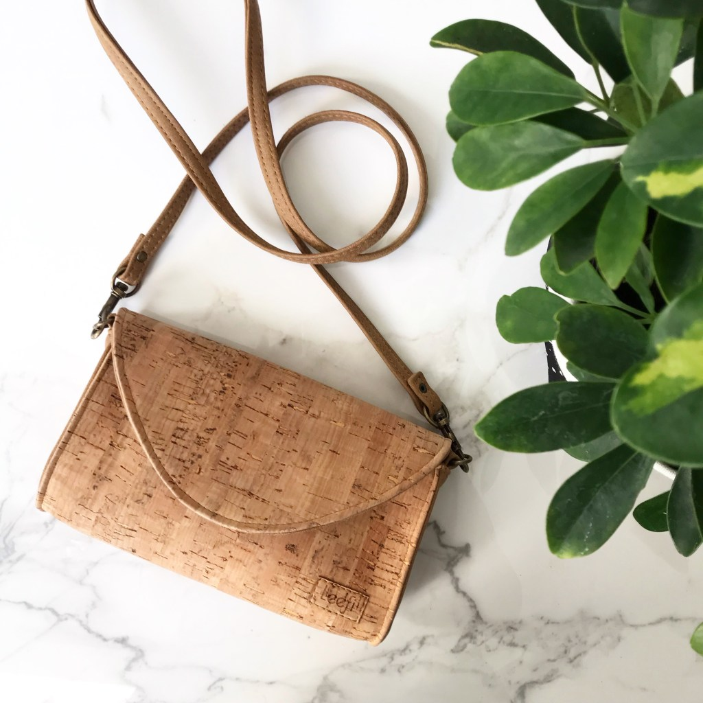 vegan cork handbag