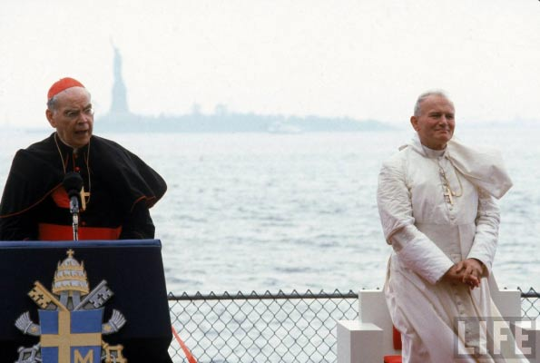 "Cardinal Terence Cooke (1921-1983), New York, founded Birthright, Courage, and much more. On his deathbed, told Fr. Benedict Groeschel: ""Don't be disheartened — because you can hear the bagpipes"