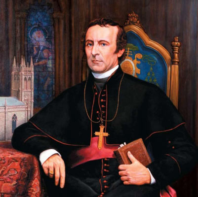Bishop John Hughes (1797-1864), New York. Abraham Lincoln sent him to several European countries to head off the Confederacy. He organized against anti-Catholic mobs and built St. Patrick's Cathedral.