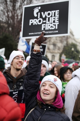 Students of Benedictine College are pro-life ... and they vote.