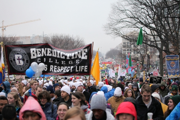 It's the largest unreported Washington event each year, with Benedictine College in the middle.
