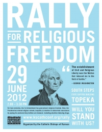 The Rally for Religious Freedom is June 29 in Topeka, Kansas