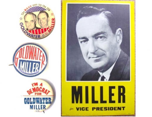 "William E. Miller (1914-1983) U.S. Congressman and first Catholic on a GOP national ticket (1964), and party chairman. This World War II hero was ""one of the best political minds and most effective orators of his day."""