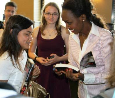 A student shares her thoughts after Immaculee's session with Benedictine College students...