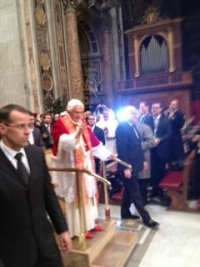 A cell phone photo from President Minnis' December Vatican visit.