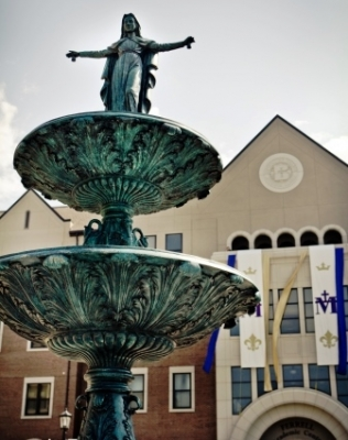 1. On Sept. 8, Abbot James Albers of St. Benedict Abbey consecrated Benedictine College to the Blessed Virgin Mary and the college unveiled a 21-foot fountain statue of Our Lady of Grace.