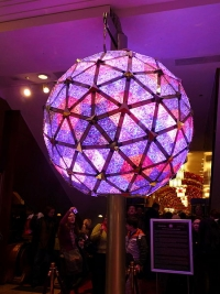 The Times Square ball from 2009, in Ireland's Waterford Crystal Museum.