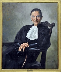 Commissioned portrait of Justice Ginsburg in 2000 (Wikipedia)