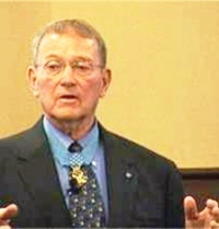 Roger Donlon, Medal of Honor recipient, at Benedictine College.