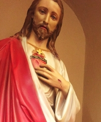 Sacred Heart statue, St. Benedict Church, Atchison, Kan.