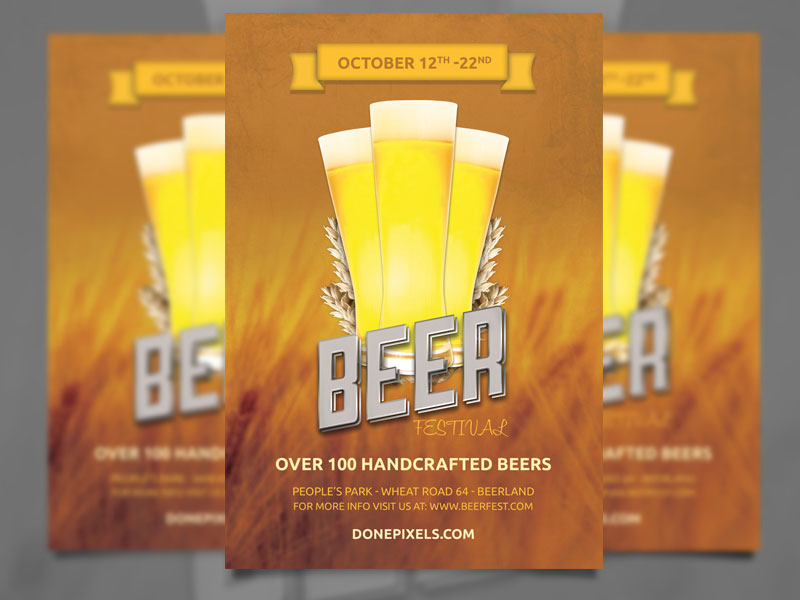 Free Flyer Templates for Photoshop and Word   The Grid System Beer fest flyer