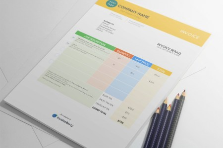 Free Invoice Templates by InvoiceBerry   The Grid System colorstationery invoice template by invoiceberry