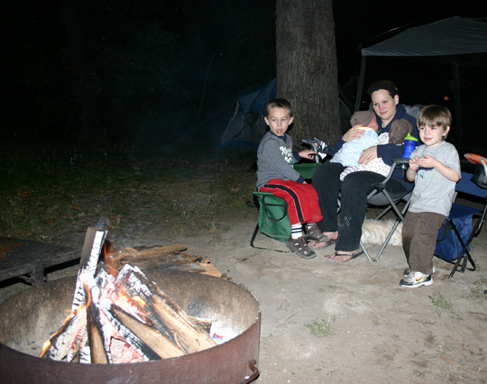 Smores time, a family favorite.
