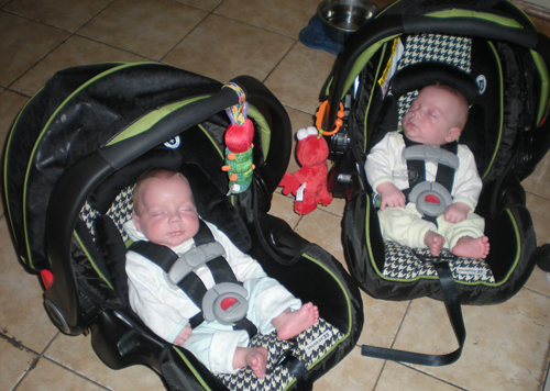 Almost out-grown the infant carseats in 6 months