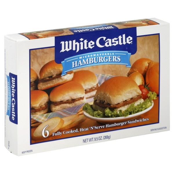 white castle hamburgers 6 ct frozen