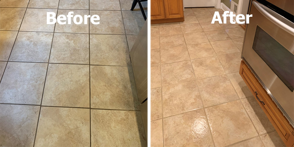 why is my white grout turning brown
