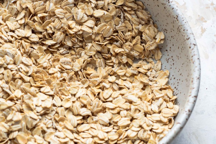 Oats in a bowl