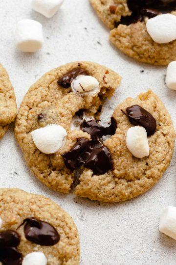 vegan and gluten-free s'mores cookies