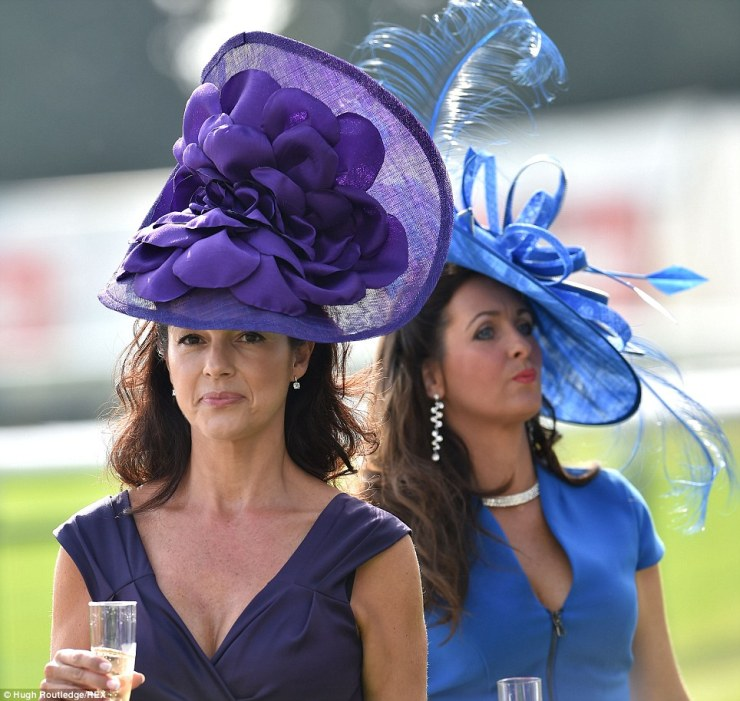 1f9ceebf236eef SEE: Ladies in magnificent hats & bold designer gears at Ladies Day in  Doncaster during St. Leger Festival