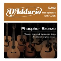 Beginner's Kit for Dobro Guitar - D'Addario EJ42 Resophonic Guitar Strings, 16-56