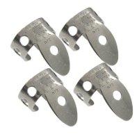 Beginner's Kit for Dobro Guitar - Jim Dunlop 33P018 .018 Inch Nickel Silver Finger and Thumbpicks, 5-Pack