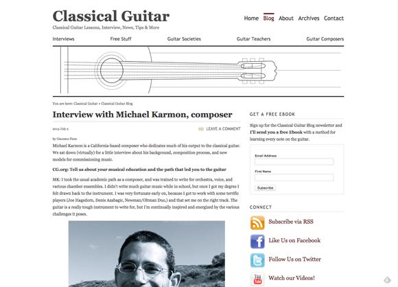 ClassicalGuitar.org blog