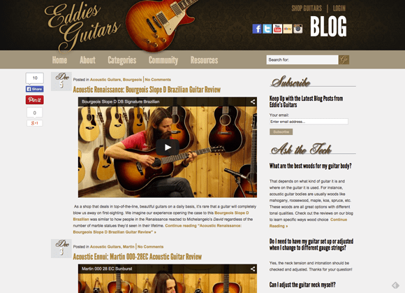 EddiesGuitars.com Blog