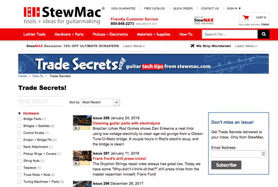 StewMac Guitar Blog