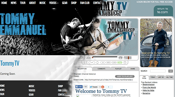 Tommy Emmanuel Guitar Lessons