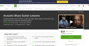 5 Places to Get Online Acoustic Blues Guitar lessons - Jim Bruce