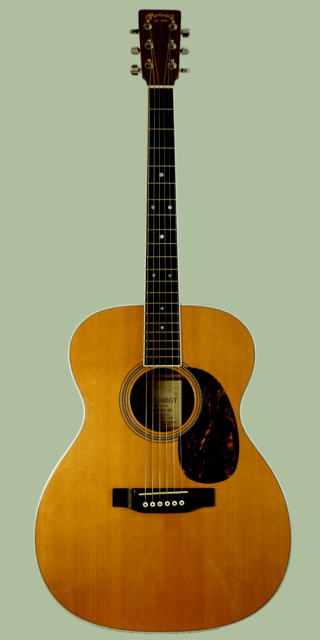 Example of a concert-shaped guitar by C.F. Martin